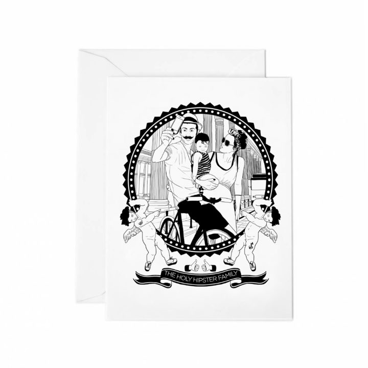 THE HOLY HIPSTER FAMILY_greetingcards